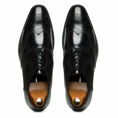 Black Wingtip Brogues