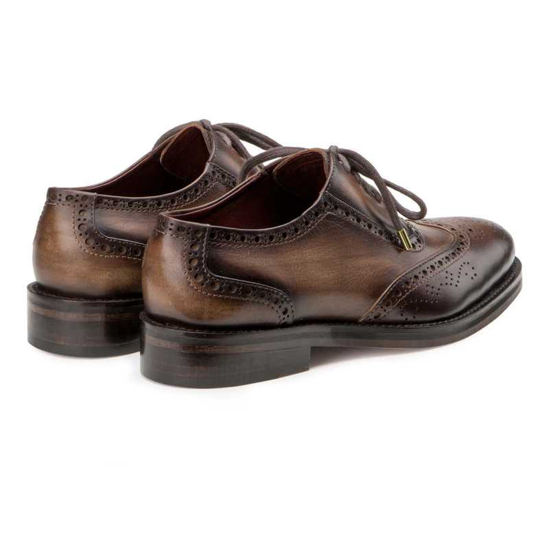 """Don Vito"" Two-Tone Wingtip Brown Brogues"