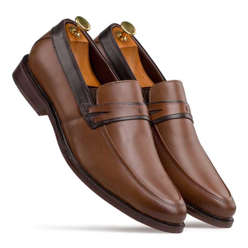 El Classico Classic Tan Penny Loafers