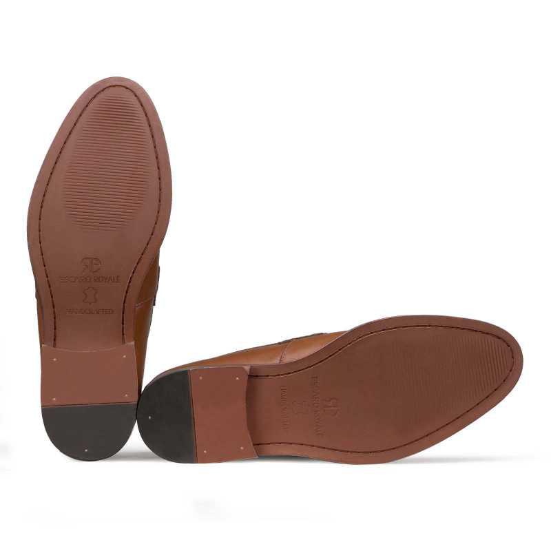 """El Classico"" Classic Tan Penny Loafers"