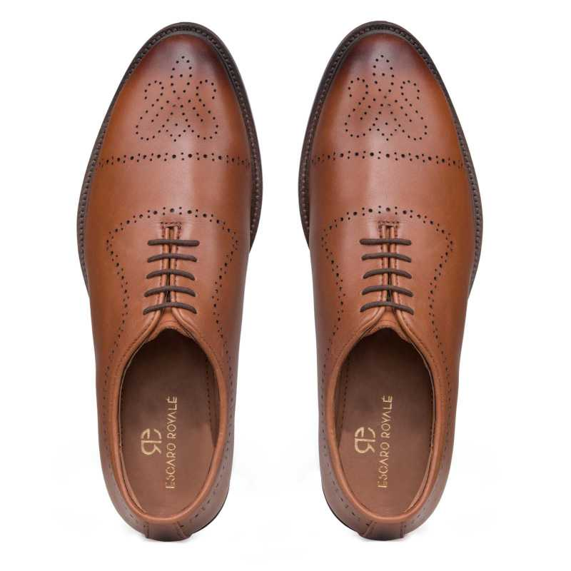 Wholecut Medallion Toe handmade Oxford