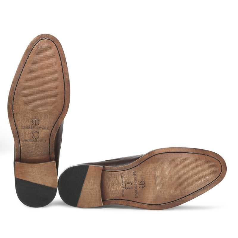 Dark Brown Braided Tassel Designer Loafer - Escaro Royale