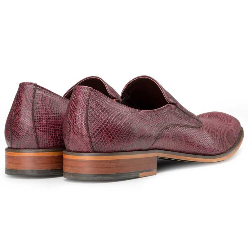 Wine Lizard-pattern SlipOns