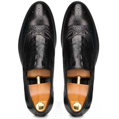 Black Croc SlipOn