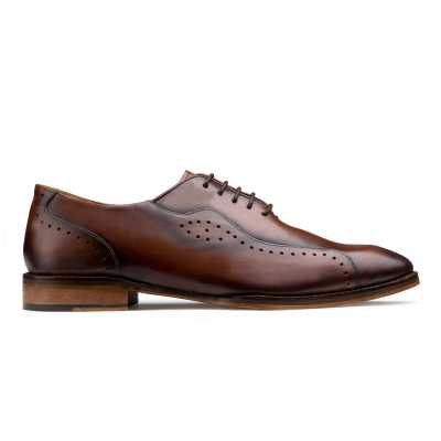 Brown Oxfords with Burnish Finish