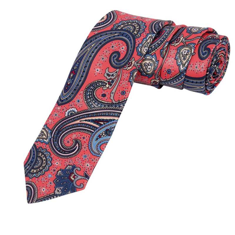 Astrid Pink Floral Tie - Escaro Royale