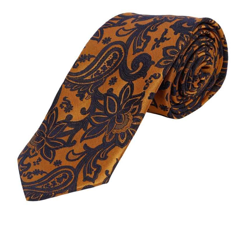 Leif Gold Floral Tie - Escaro Royale