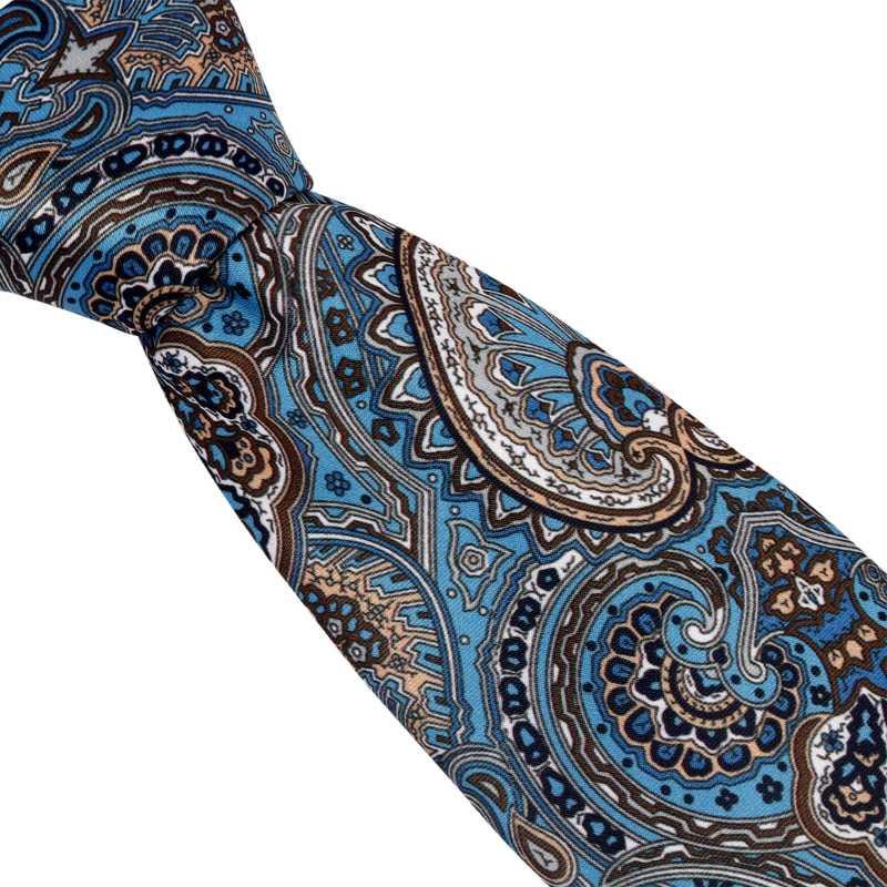 Teagan Blue Floral Tie - Escaro Royale