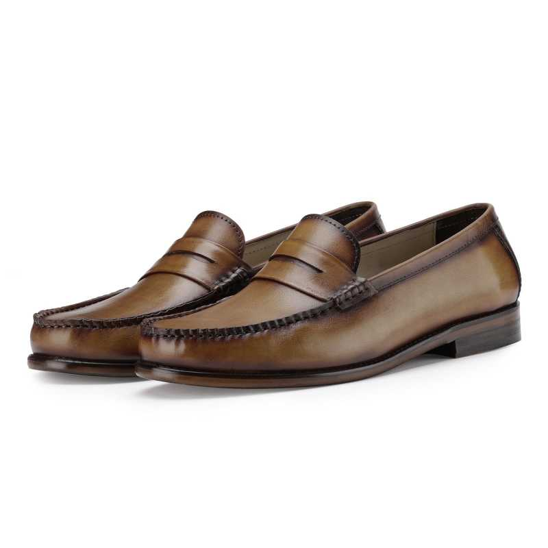 The Elinor Loafer in Tan
