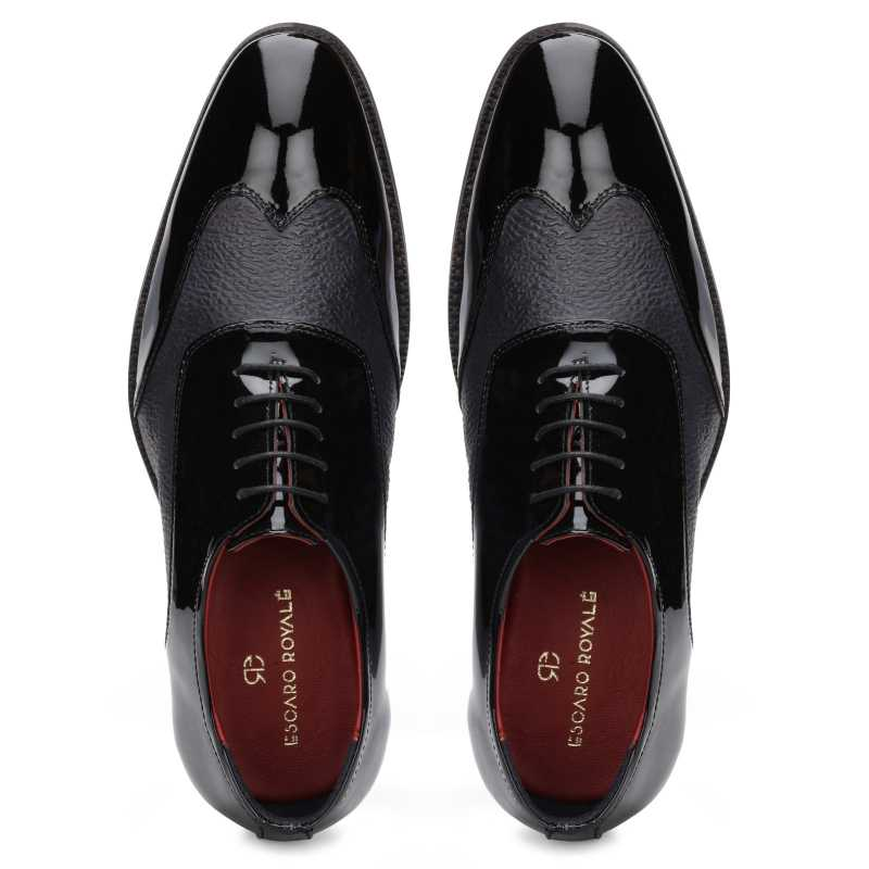 The Damian Dual-Texture Oxford in Black