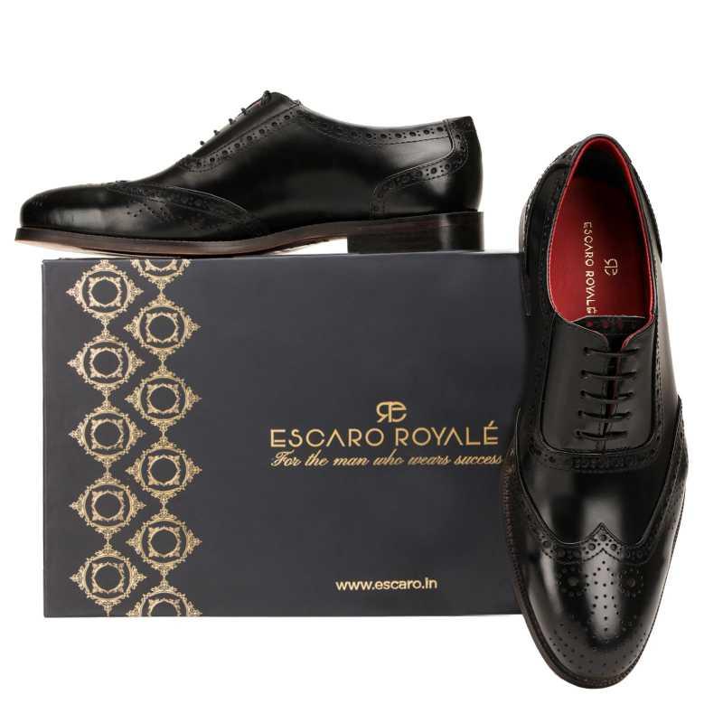 The Boss Brogues in Black - Escaro Royale