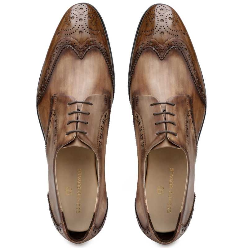 The Prague Wooden Brogues in Brown