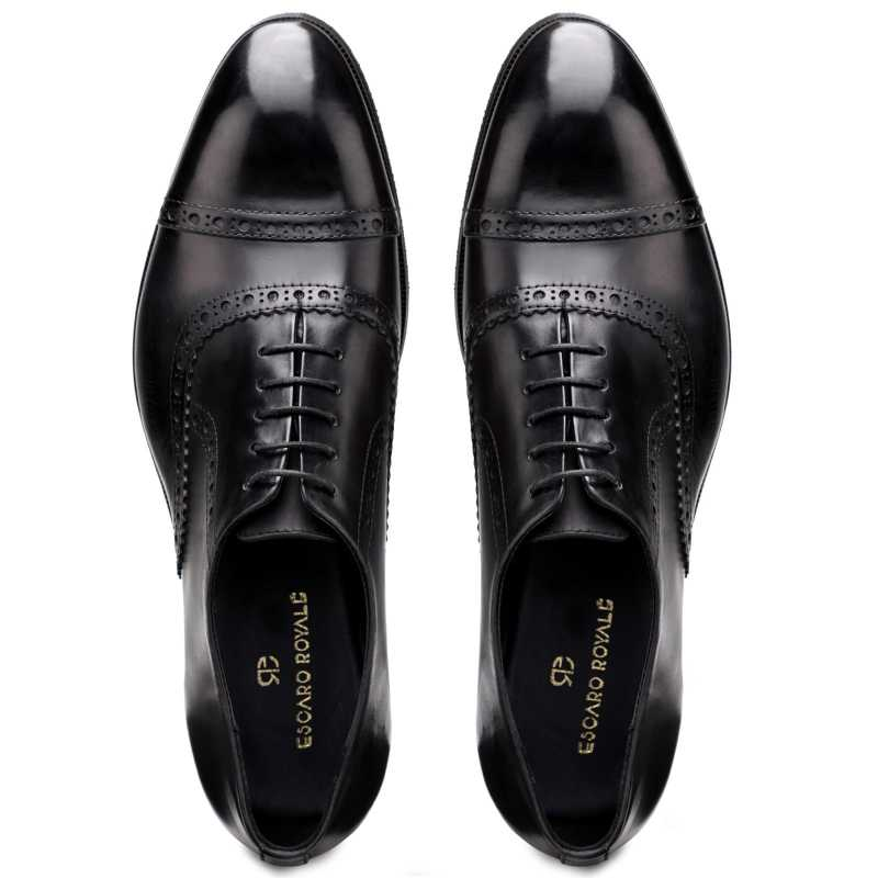 The Vienna Toecap Oxfords in Black