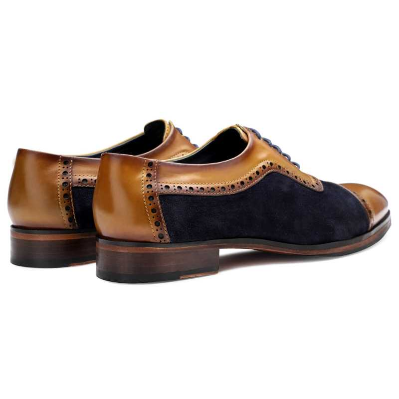 The Budapest Oxfords in Tan Blue