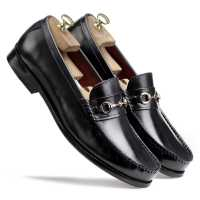 Burgundy Horsebit Loafers | Escaro Royale
