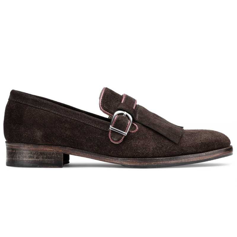 The Edmund Kiltie Monkstrap in Brown Suede