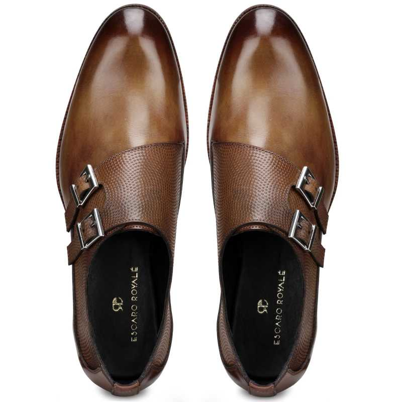 The Samuel Designer Double Monk in Cognac