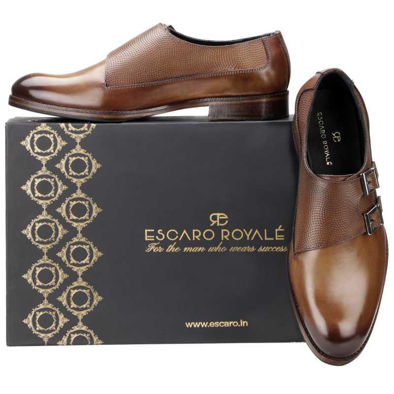 The Samuel Designer Double Monk in Cognac - Escaro Royale