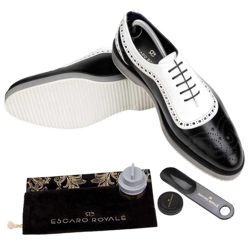 The Cortes Designer Oxford in Black White