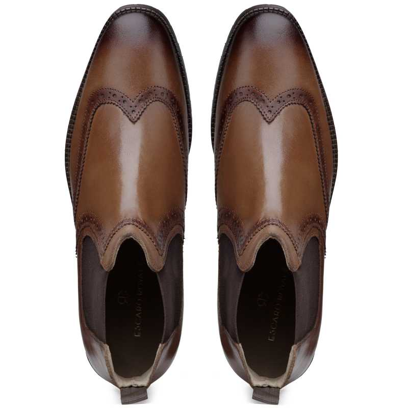 The Madison Wingtip Chelsea in Tan