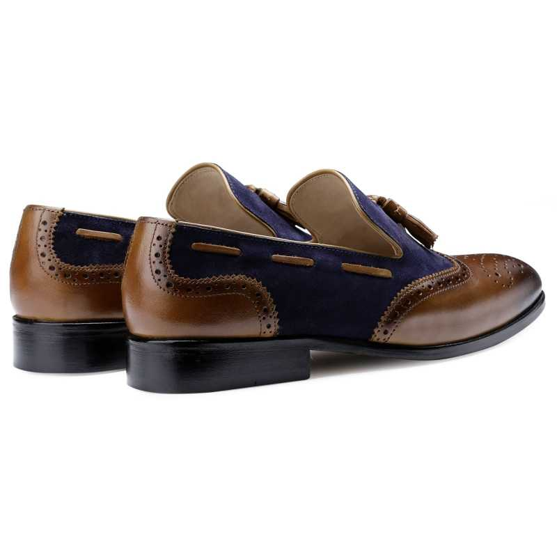 The Chicago Tassel Loafer in Blue Tan