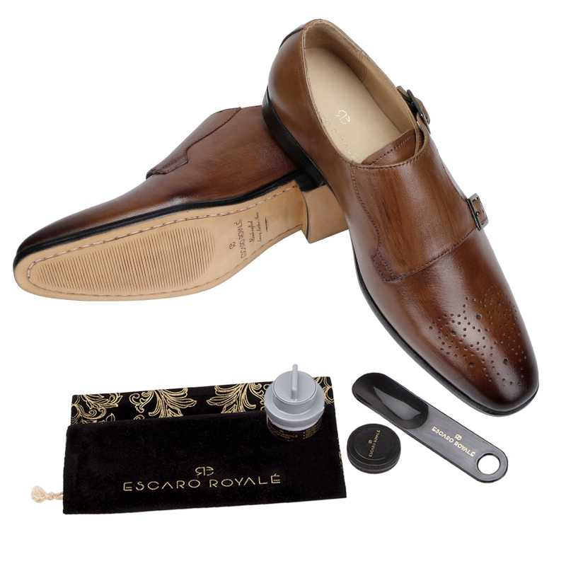 The  Lincoln Monk Medallion Loafer In Tan
