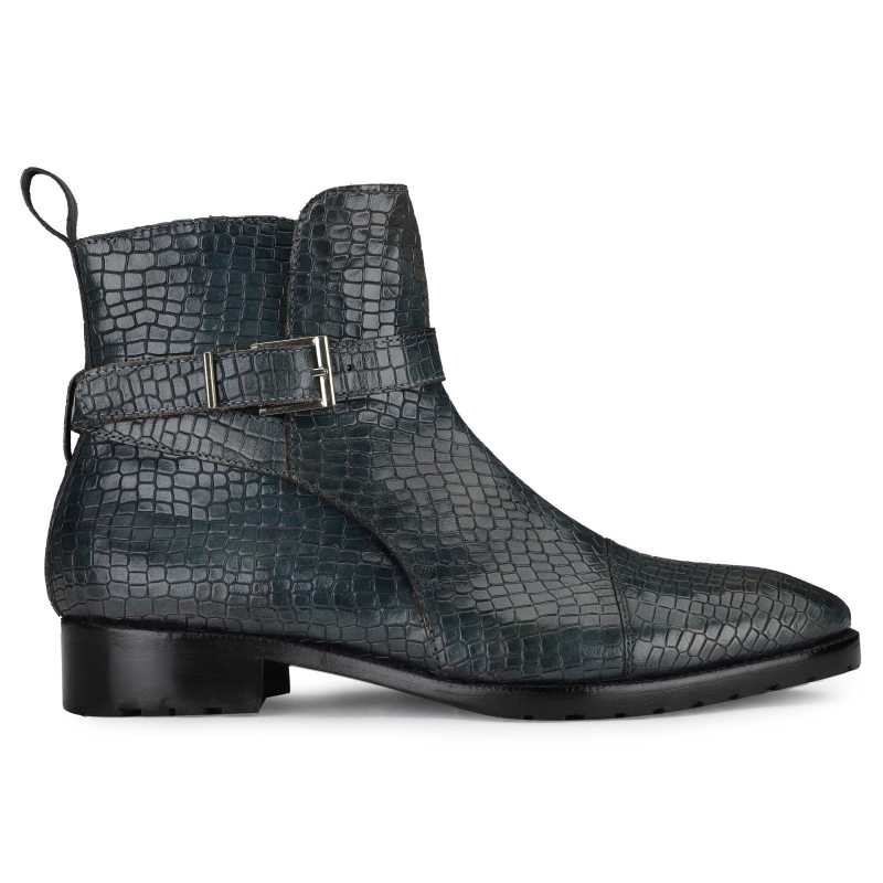 Jodhpur Boot In Patina Scales Blue