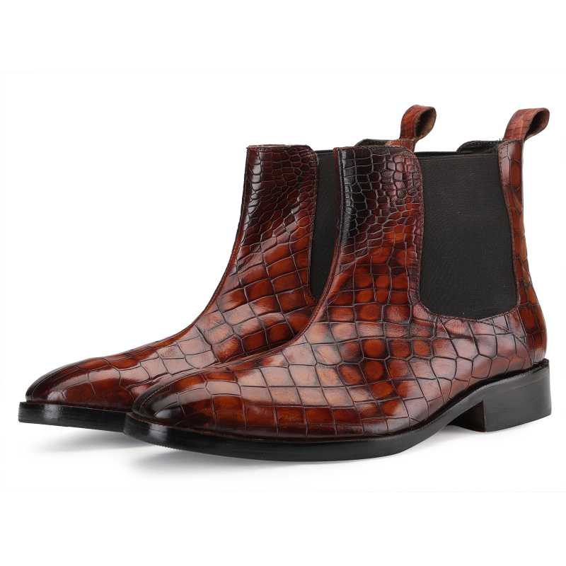 Regal Chelsea Boots in Large Tan - Escaro Royale