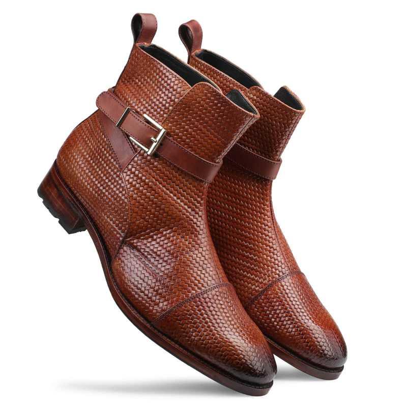 Jodhpur Boot In Patina Scales Cognac - Escaro Royale
