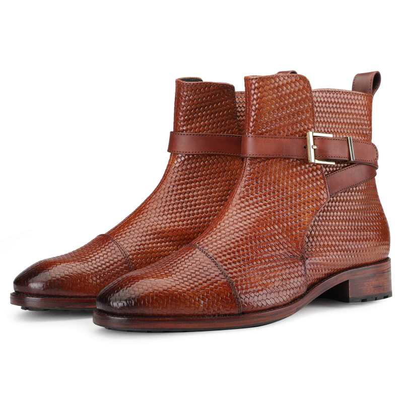 Jodhpur Boot In Patina Scales Cognac
