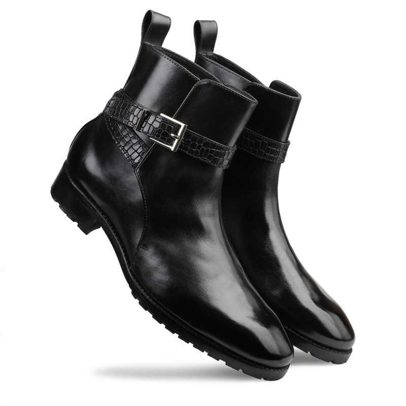 Jodhpur Boot In Black - Escaro Royale