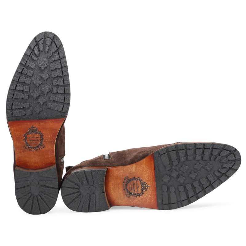 Citadel Zipper Boots in Brown Suede - Escaro Royale