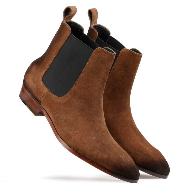 Iceman Chelsea Boots in Brown Suede - Escaro Royale