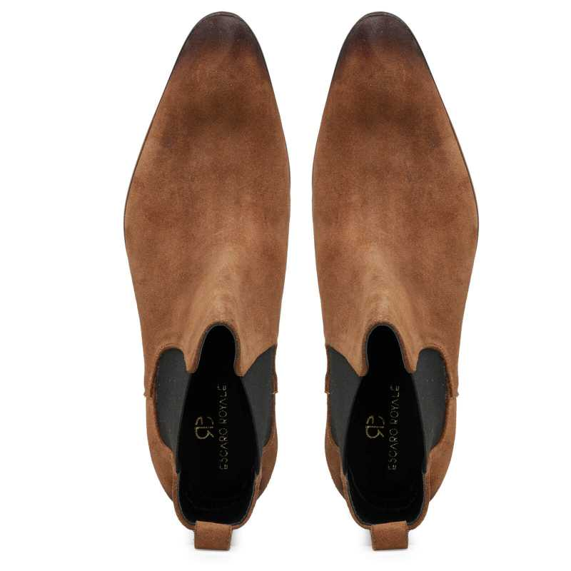 Iceman Chelsea Boots in Brown Suede