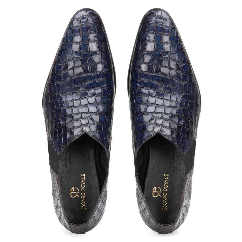 Vader Loafers in Blue - Escaro Royale