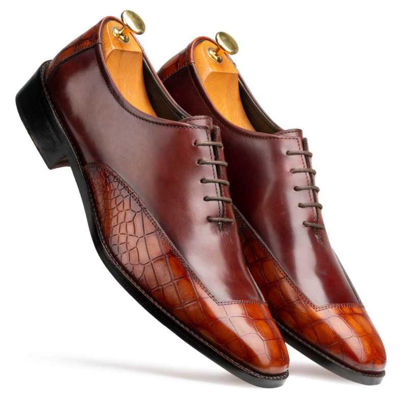 Atticus Oxford shoes in Brown & Tan - Escaro Royale