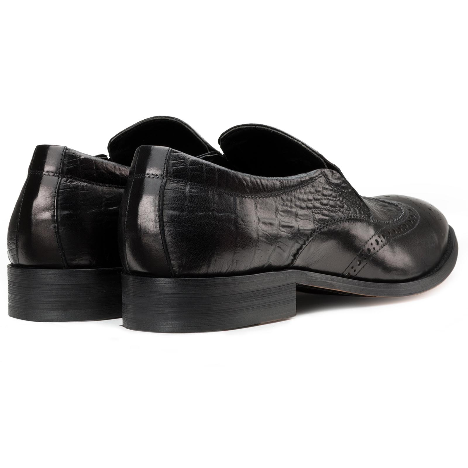 Black Croc SlipOn