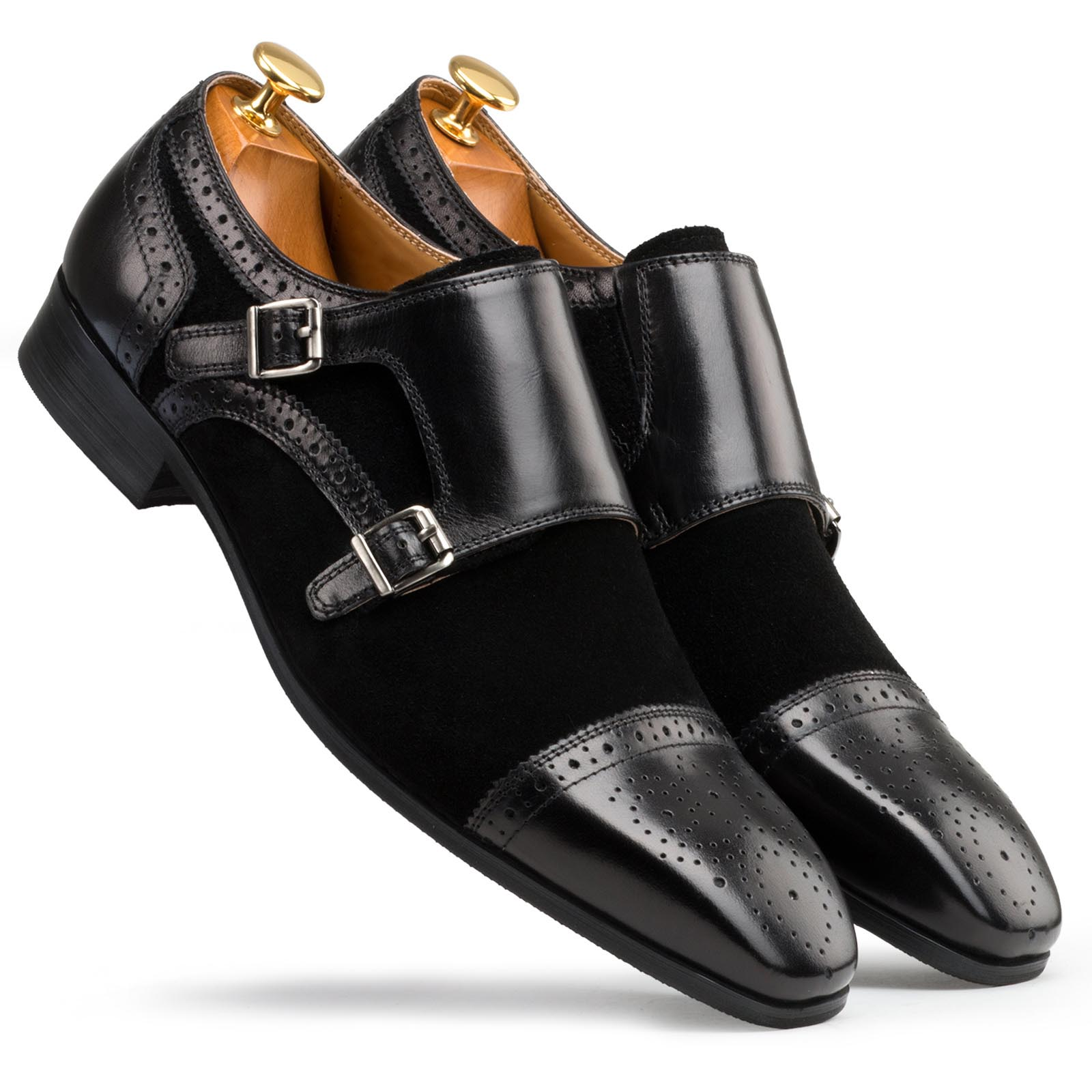 Black Double Monkstrap