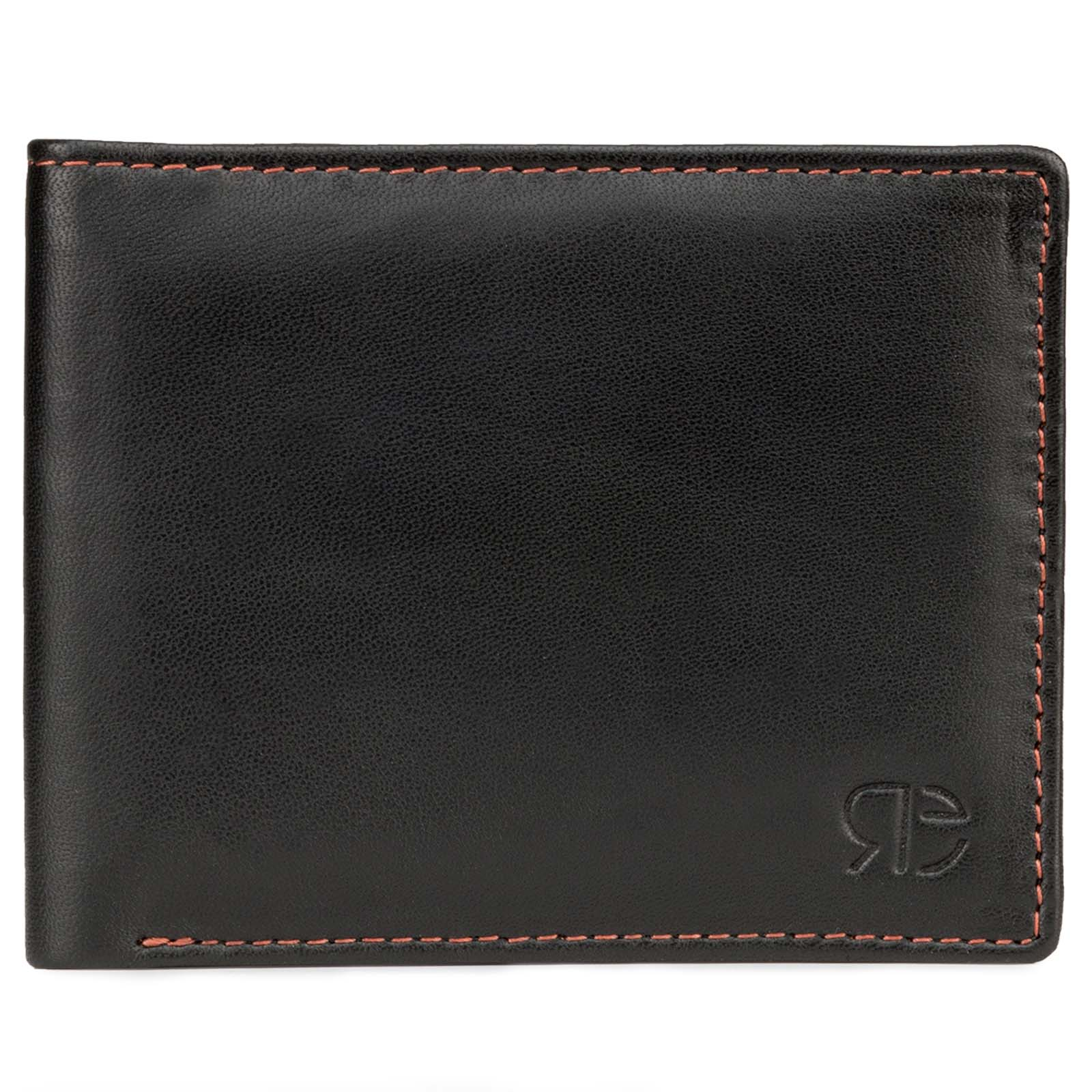 Black Plain Ultra-Soft Leather Mens Wallet
