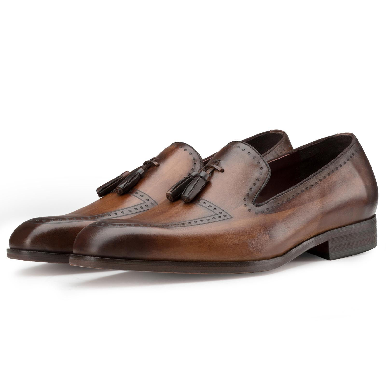 Brown Bit Tassel Loafers