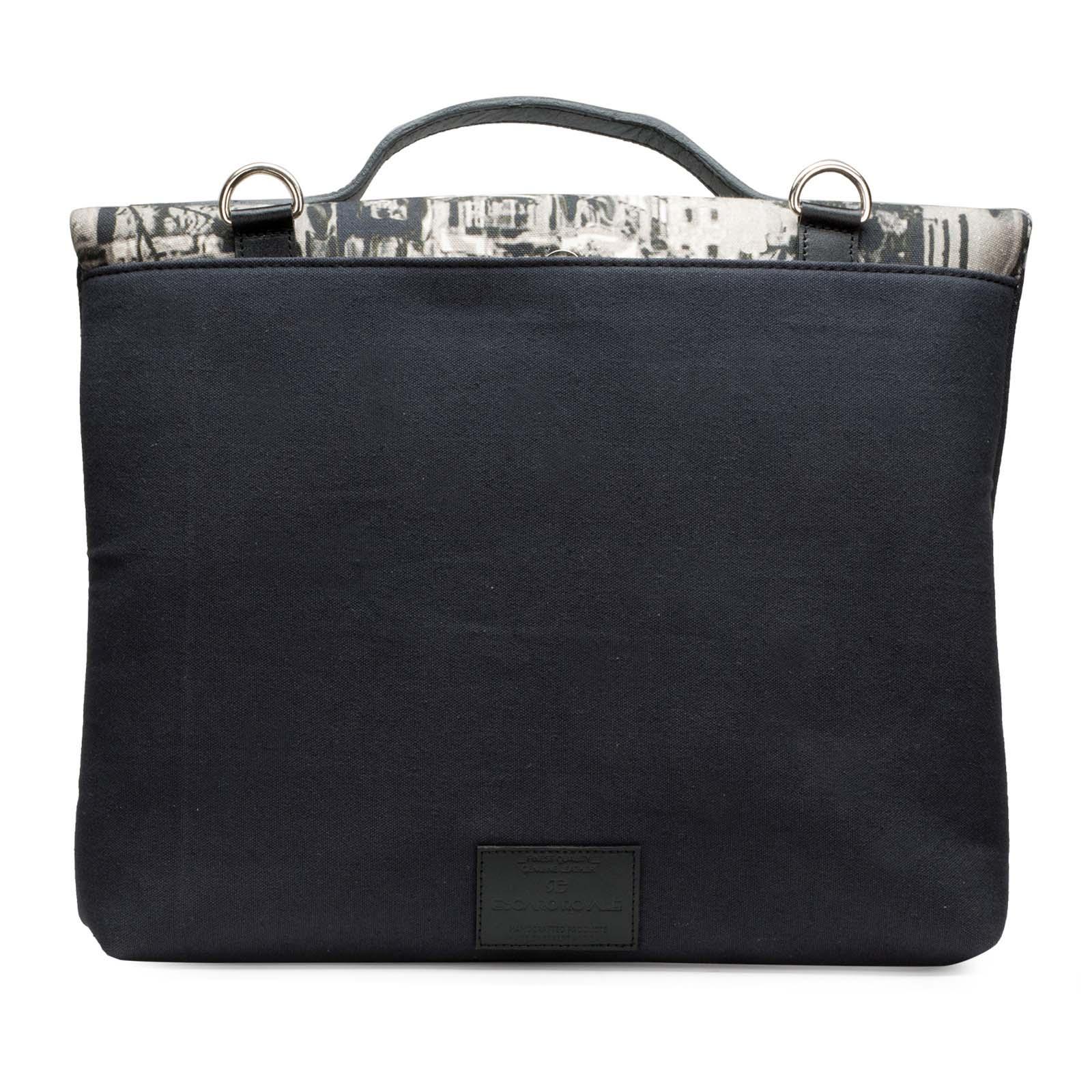 Canvas-Leather Full Printed Perisian Portfolio Bag
