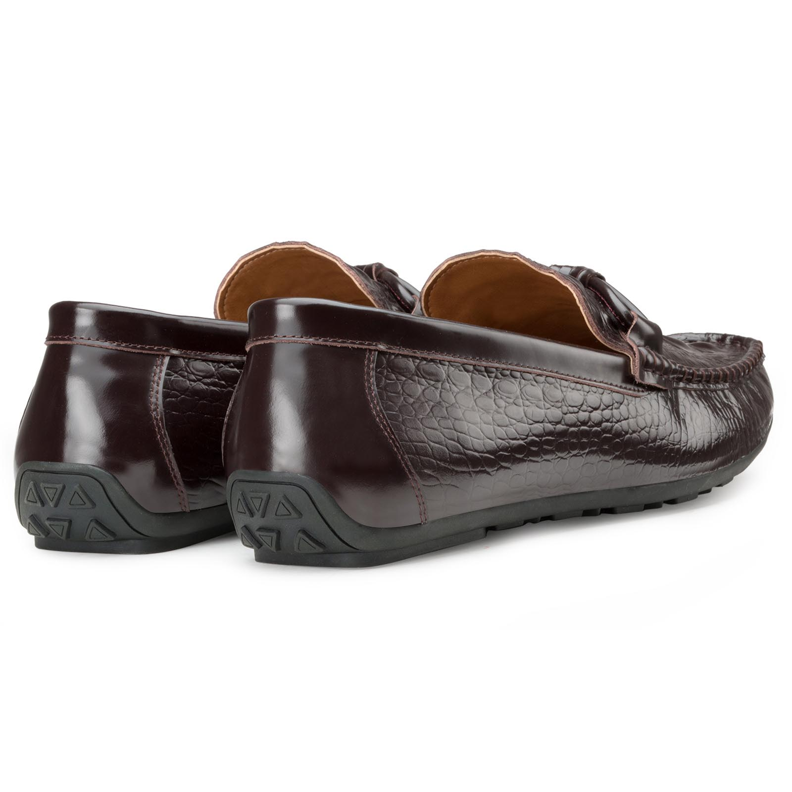 Croc Brown Moccasins
