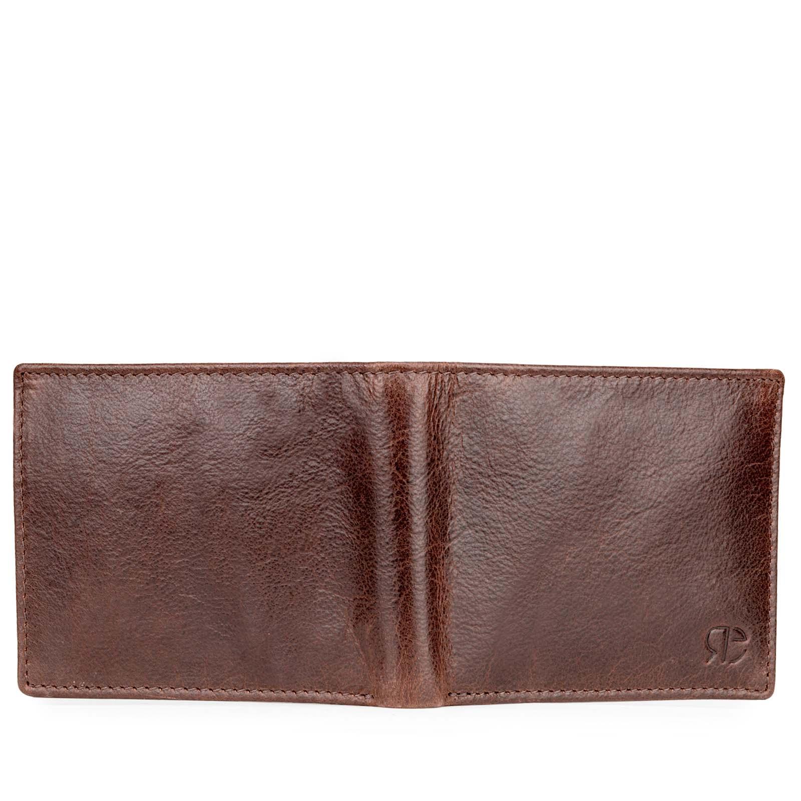 Luxury Brown Textured Leather Men's Wallet