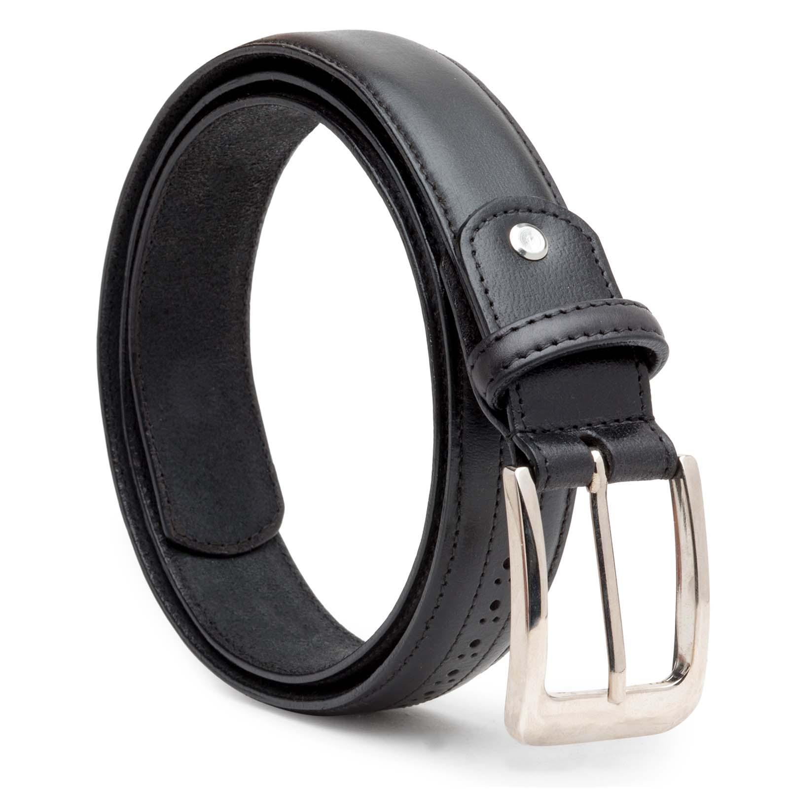 Black Brogue Leather belt