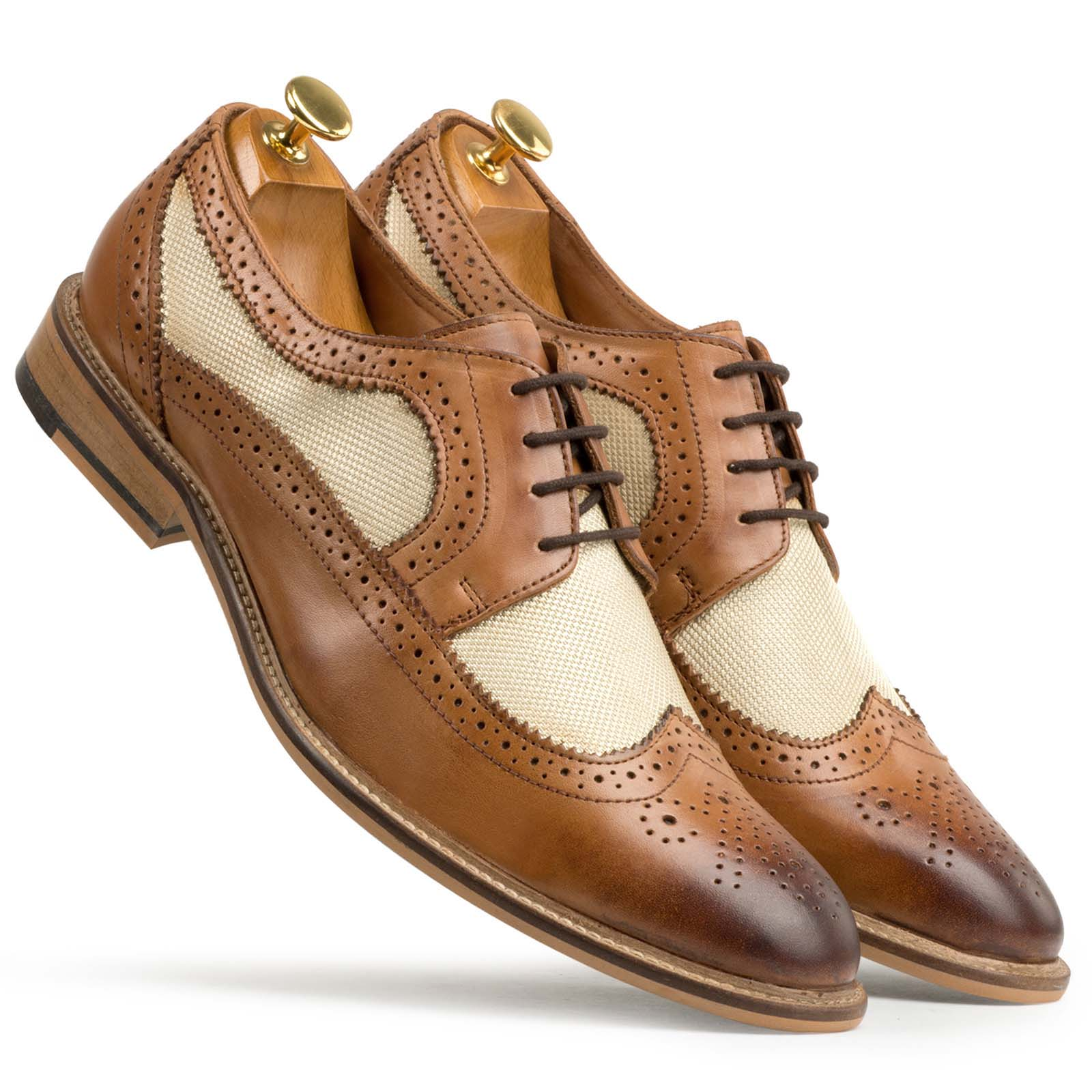 Fabric Structure Derby Wingtip Brogues