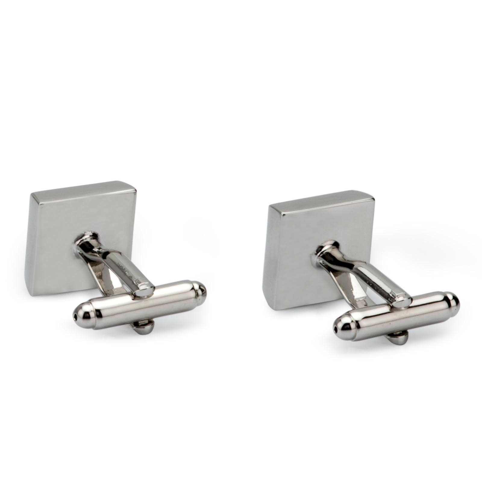 Men's Silver Plated Metal Rhinestone Crystal Cufflinks