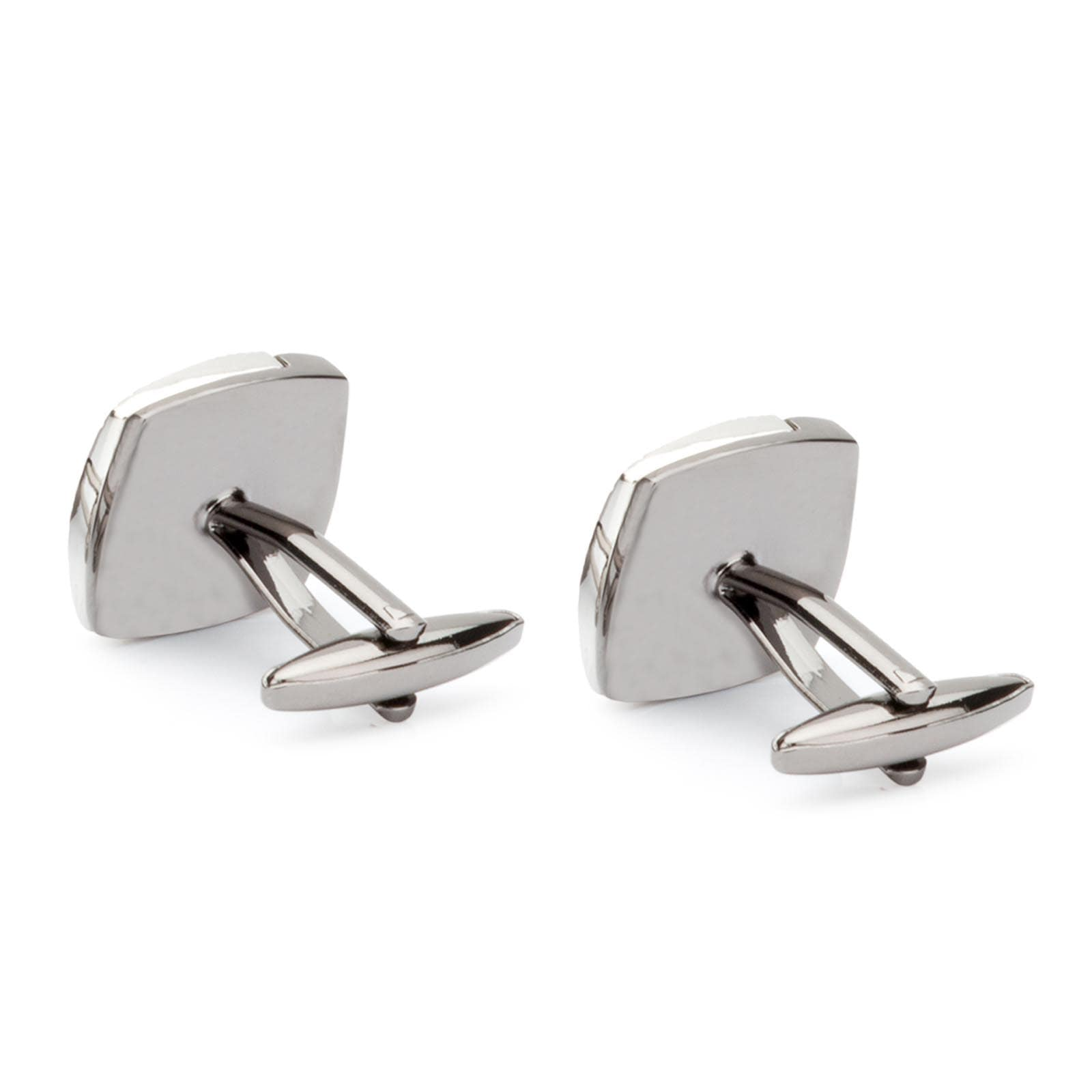 Men's Silver Plated Engraving Cufflinks