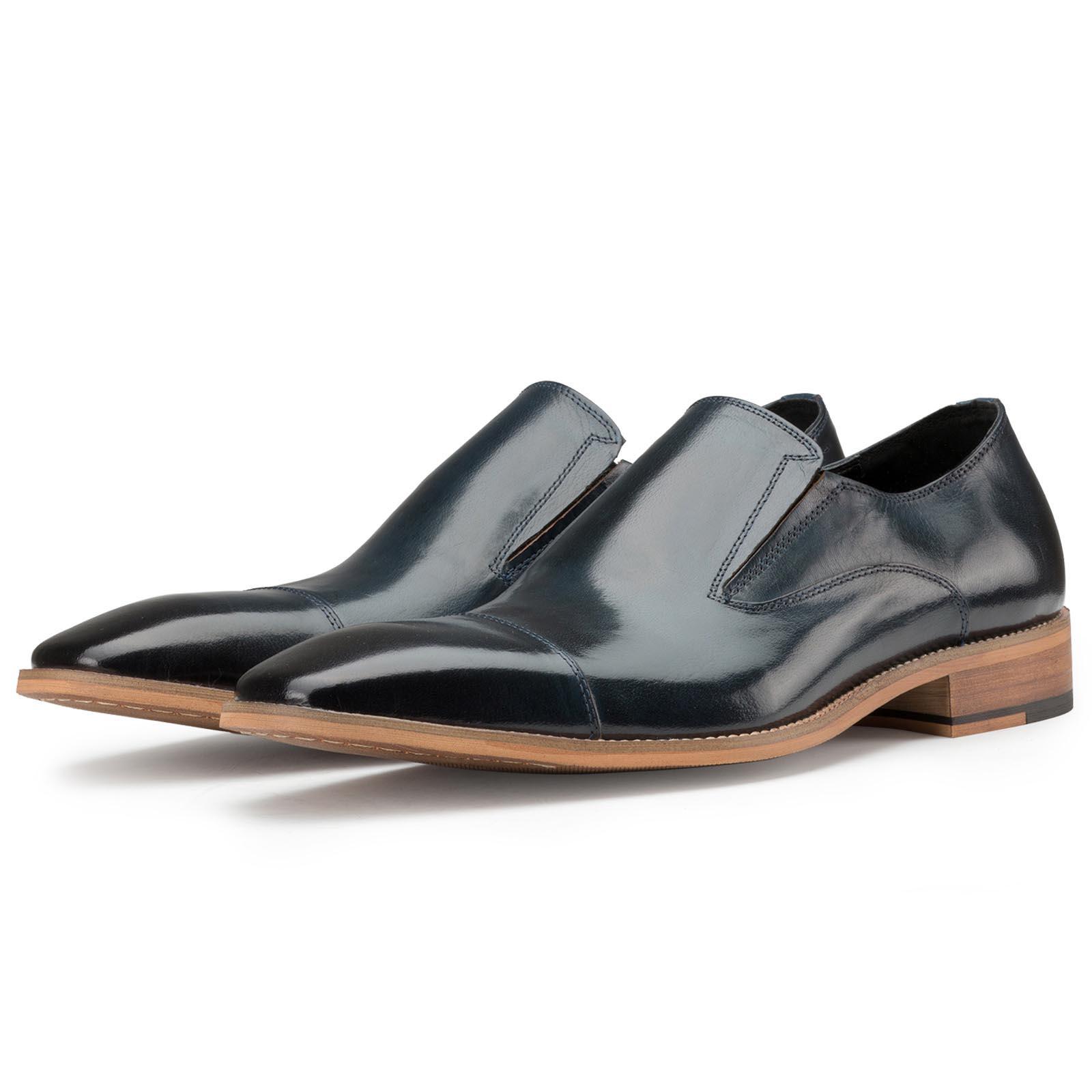 Plain Slate-Blue SlipOns