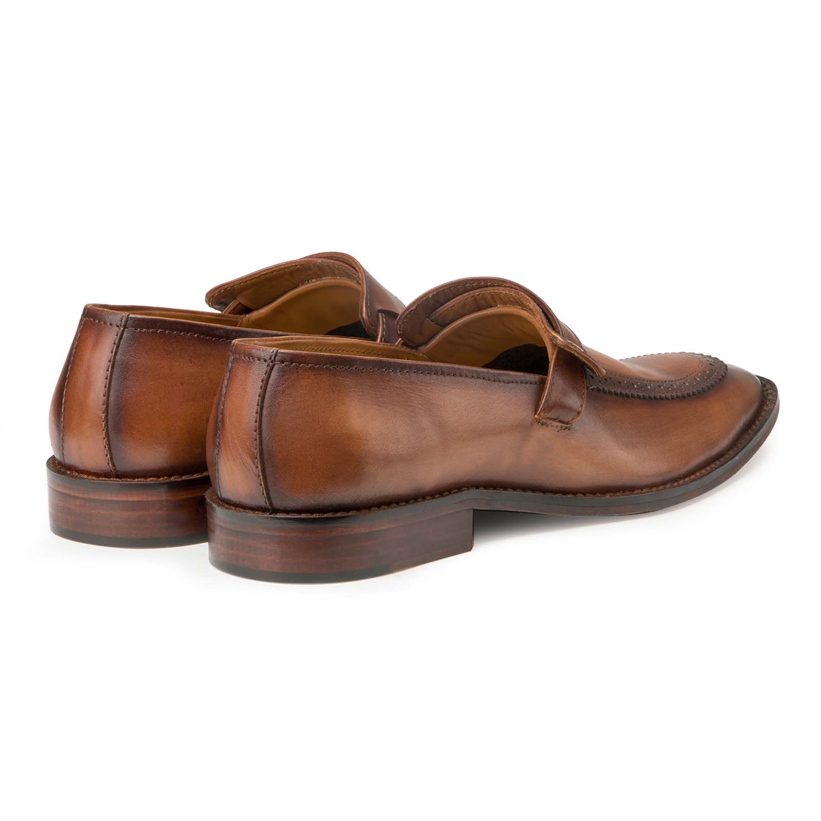 Tan Designer Penny Loafers