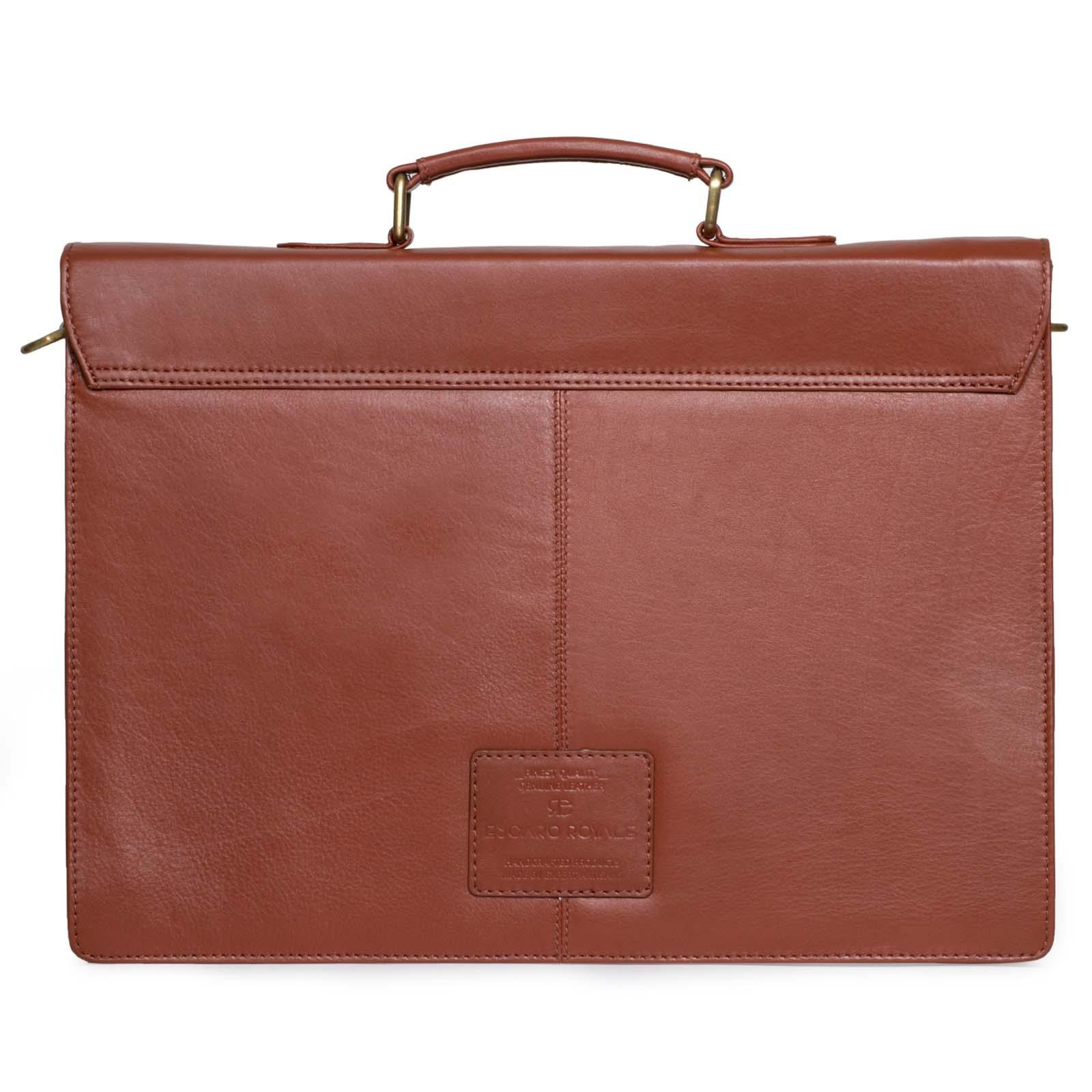 Tan Leather Portfolio Bag